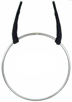 Aerial Ring / Lyra - stainless steel, 1 or 2 rigging Points, with or without padding